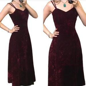 Crushed velvet vintage dress 🌹prom grad formal